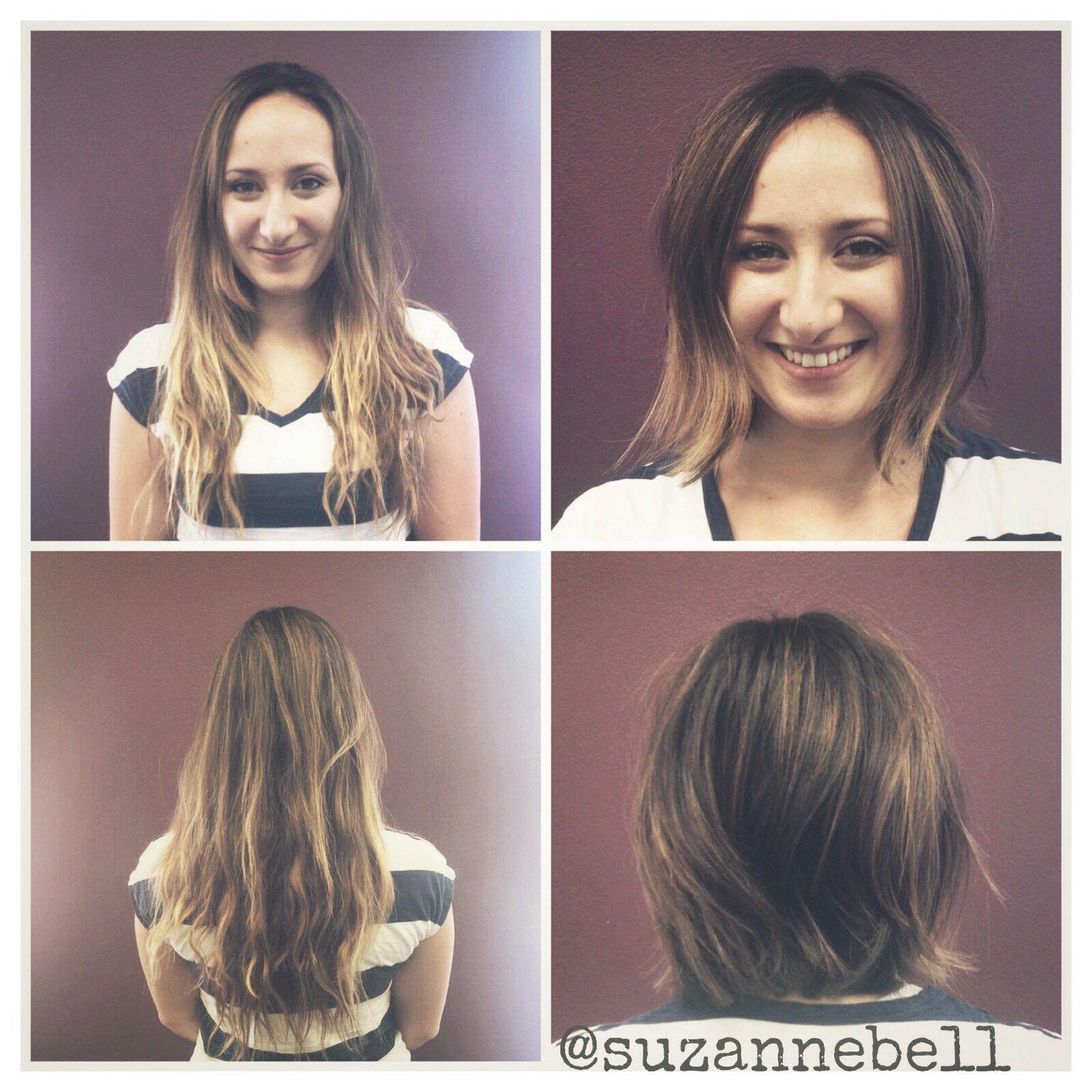Long Hair Into A Short Fun Bob Long Hair Styles Hair Boutique Hair Styles