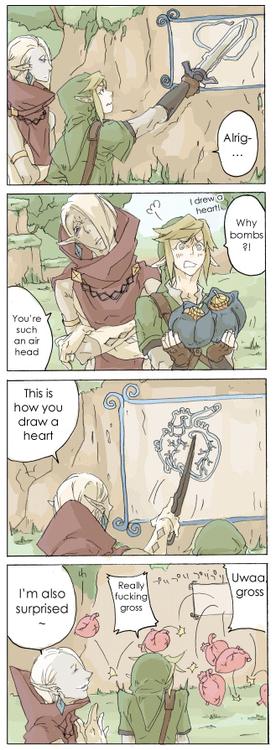 【腐・キャラ崩壊・ギラリン】 by カナイ   Ghirahim and Link - Legend of Zelda  0.0 a little too realistic Ghira.