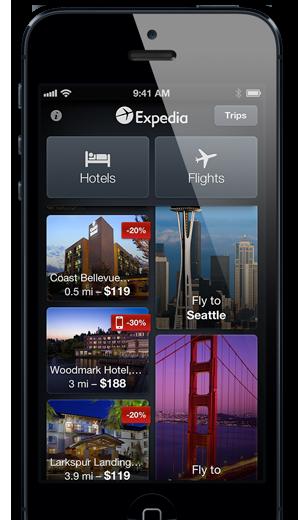 Expedia's Award Winning Travel App Beautiful design with