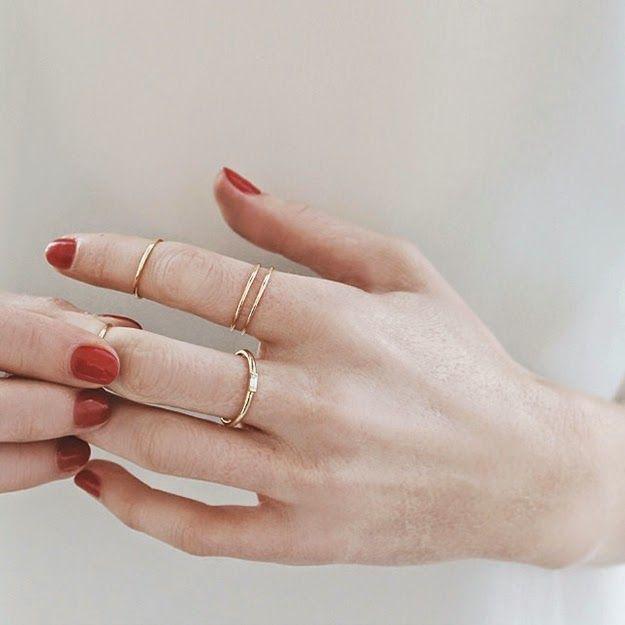 schlichte Ringe