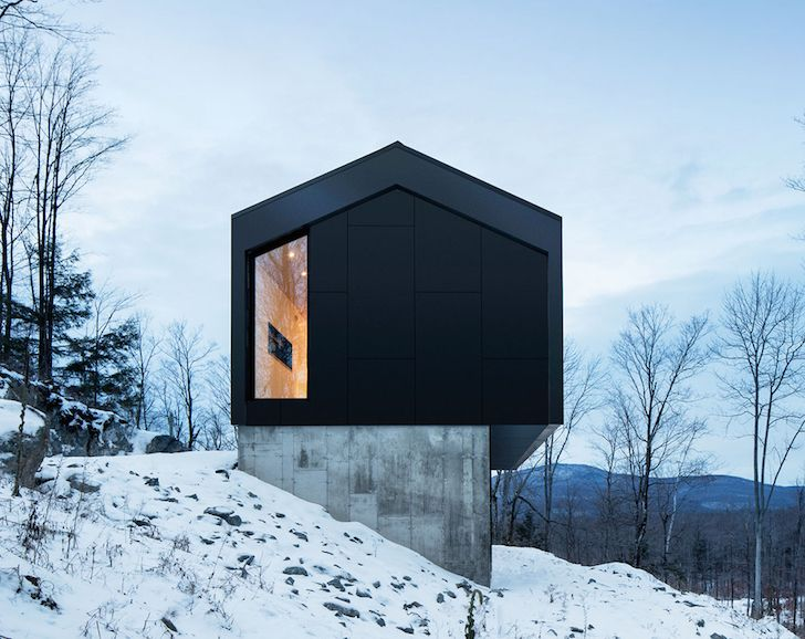 Minimalist Steel Cabin Floats Above A Rugged Slope In Quebec In 2018