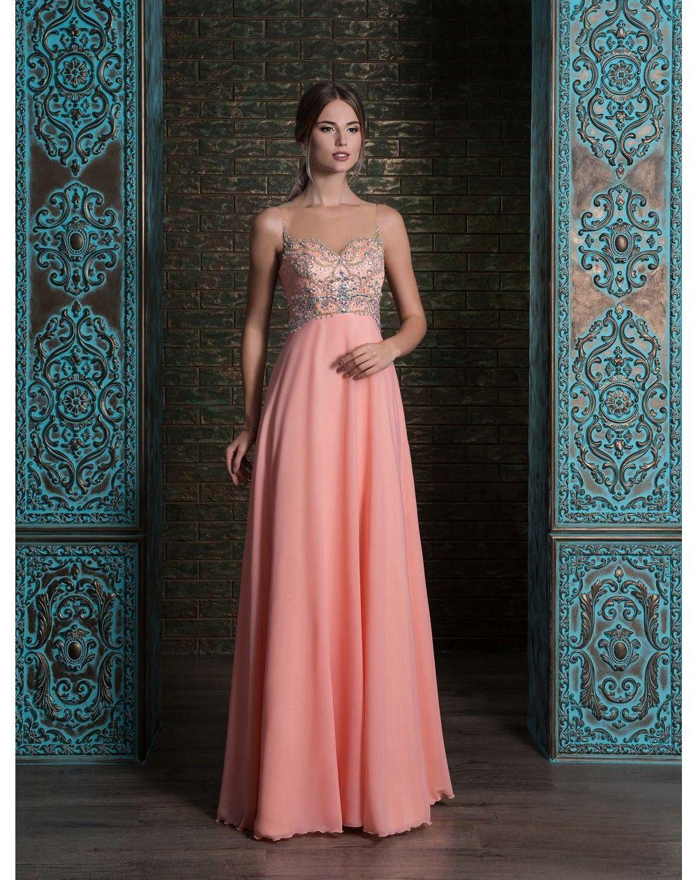 Nádherné ľahučké luxusné dlhé šaty - v jahodovej 453301c2a29