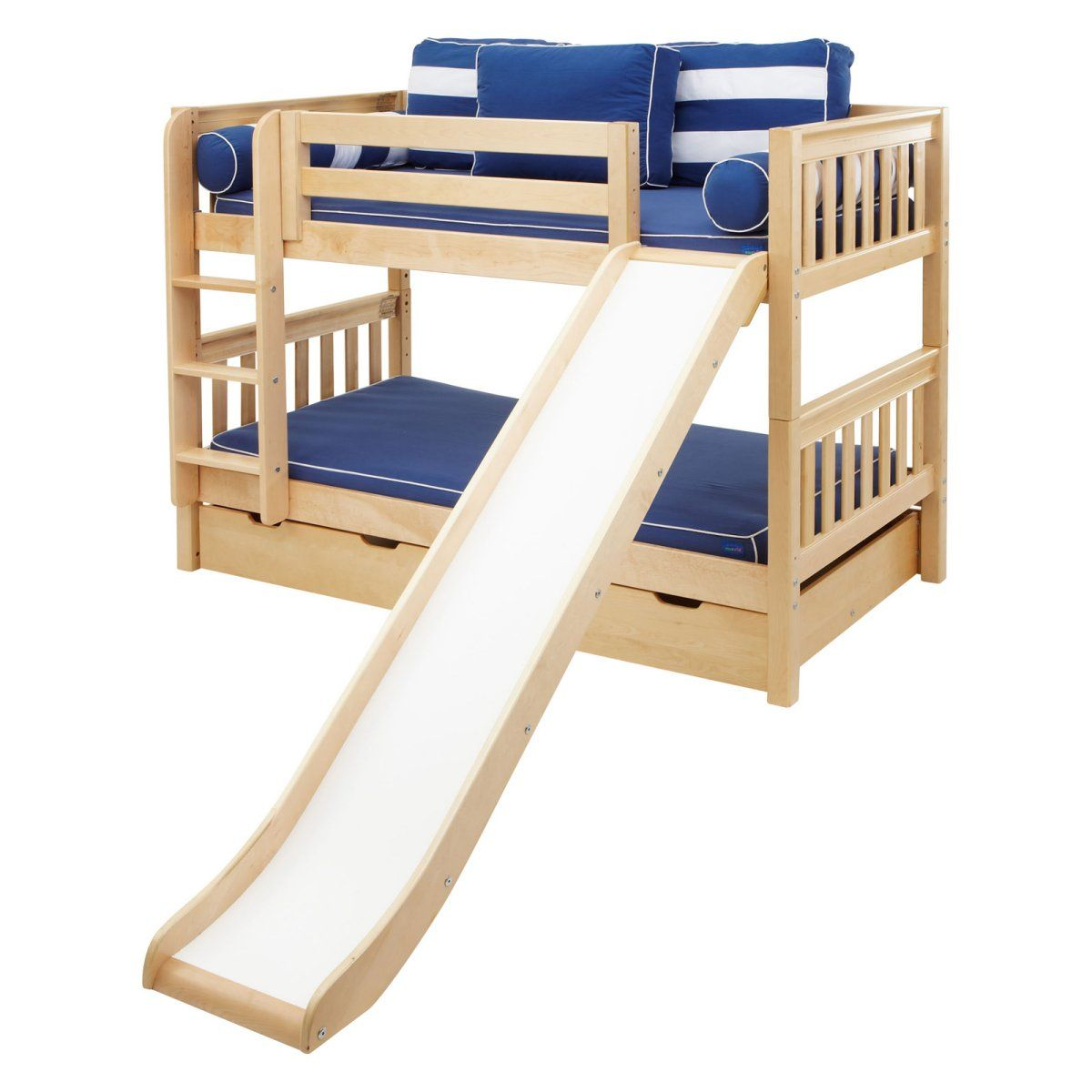 Smile Boy Twin Over Twin Panel Tent Bunk Bed Twin Over
