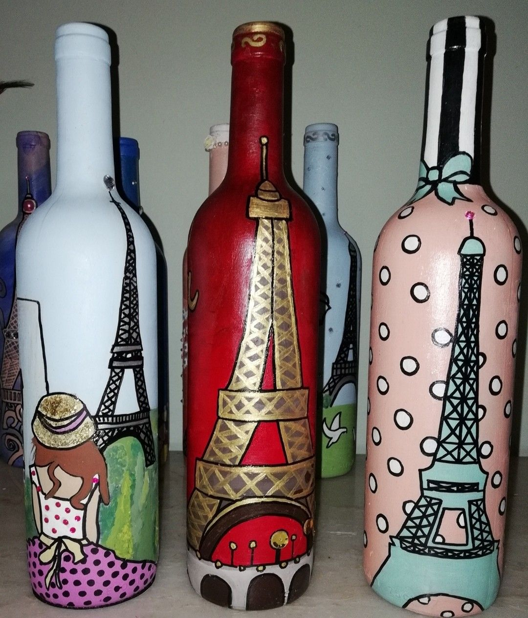 Pin On Bottle Painting