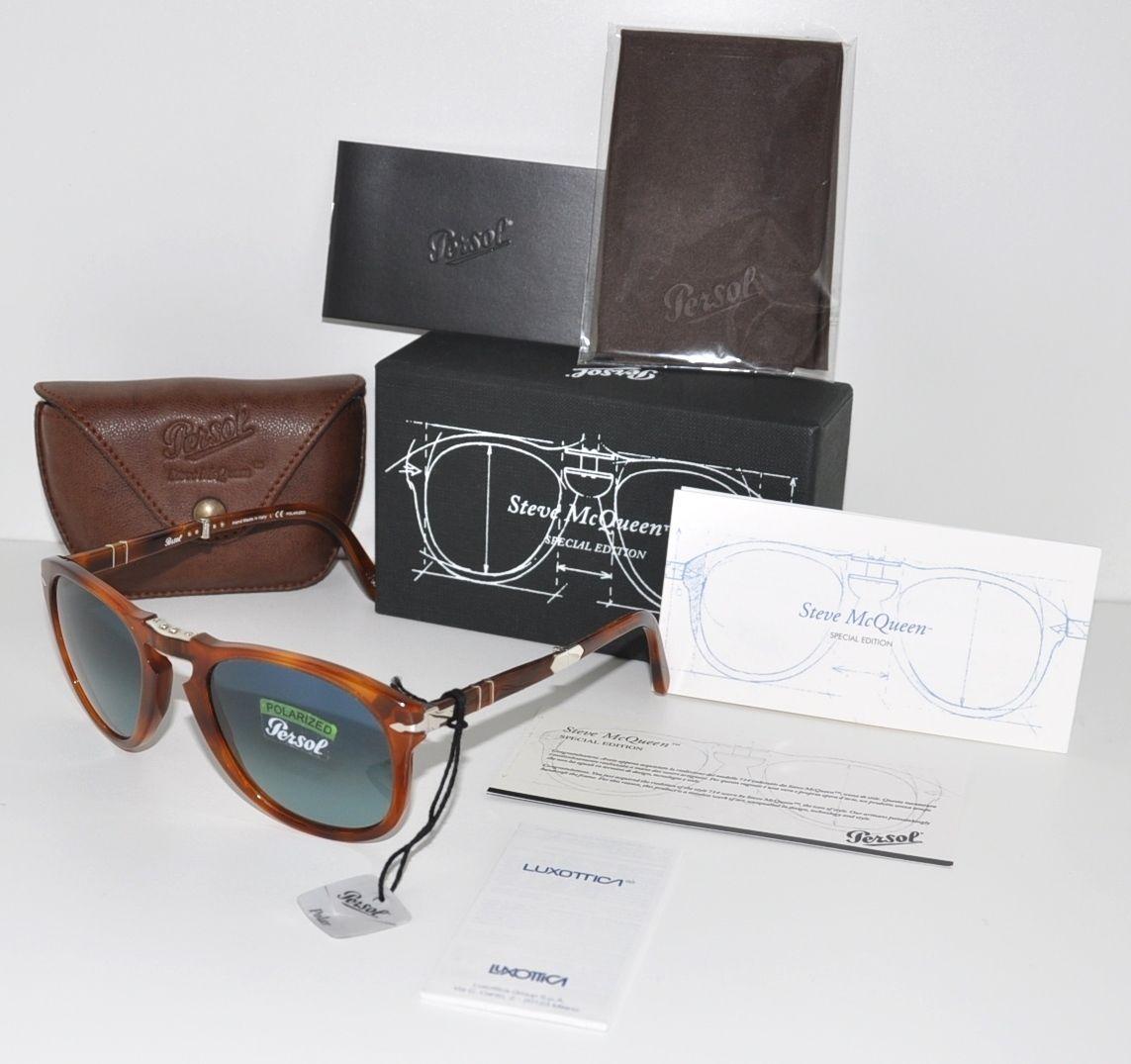 Persol Steve McQueen 714SM 96S3 Folding Sunglasses Light