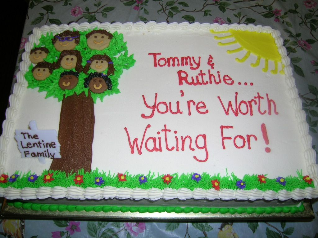 Adoption Shower Cake Idea Show Everyone What The New Family Will