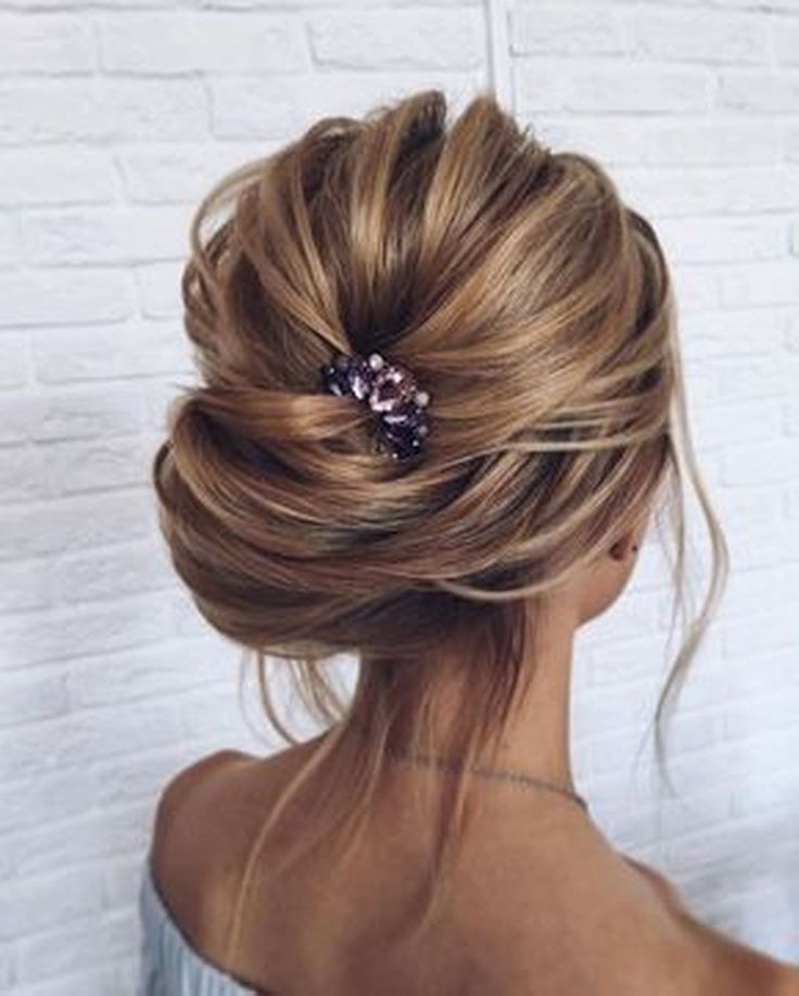 Untitled Hair Styles Bridal Hair Updo Messy Wedding Updo