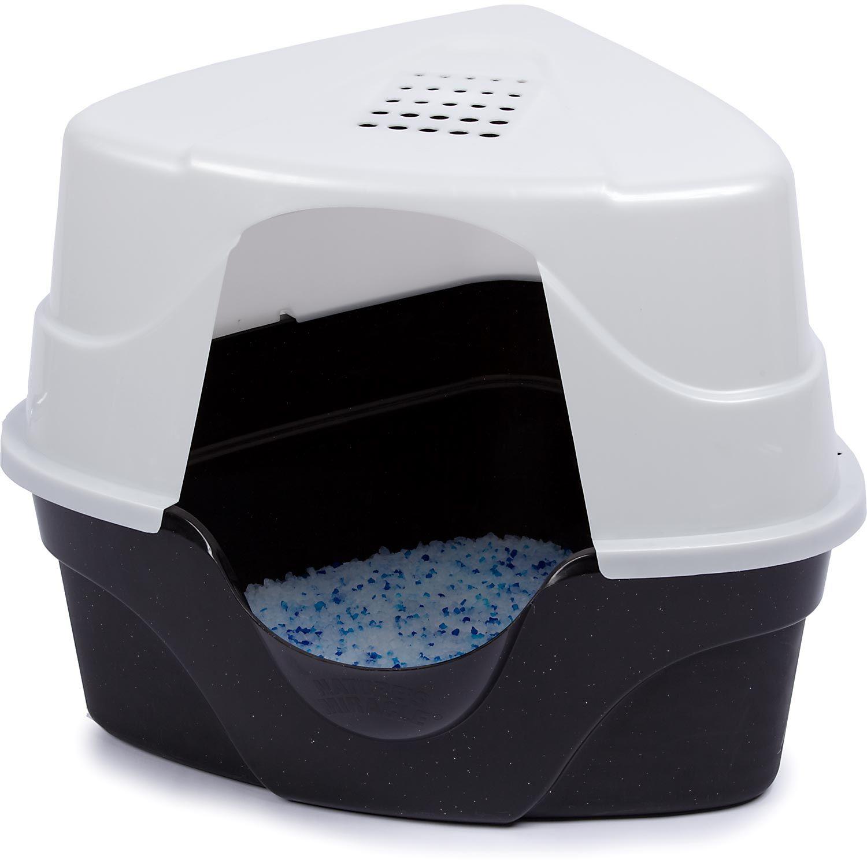 hagen catit hooded cat litter box. Nature\u0027s Miracle Advanced Corner Hooded Cat Litter Box Hagen Catit
