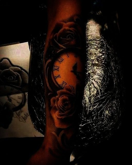 Mysterious Clock Tattoos For Men and Women for men on chest for men badass 22 Mysterious Clock Tattoos  22 Mysterious Clock Tattoos For Men and Women for men on chest for...