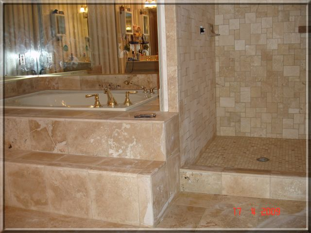 Travertine Bathroom Remodeling | Shower Pan Installation And Shower  Waterproofing