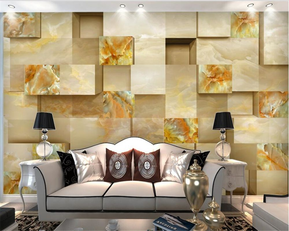 Wallpaper For Walls 3 D High Definition Three Dimensional Jade Carved  Marble Background Wall