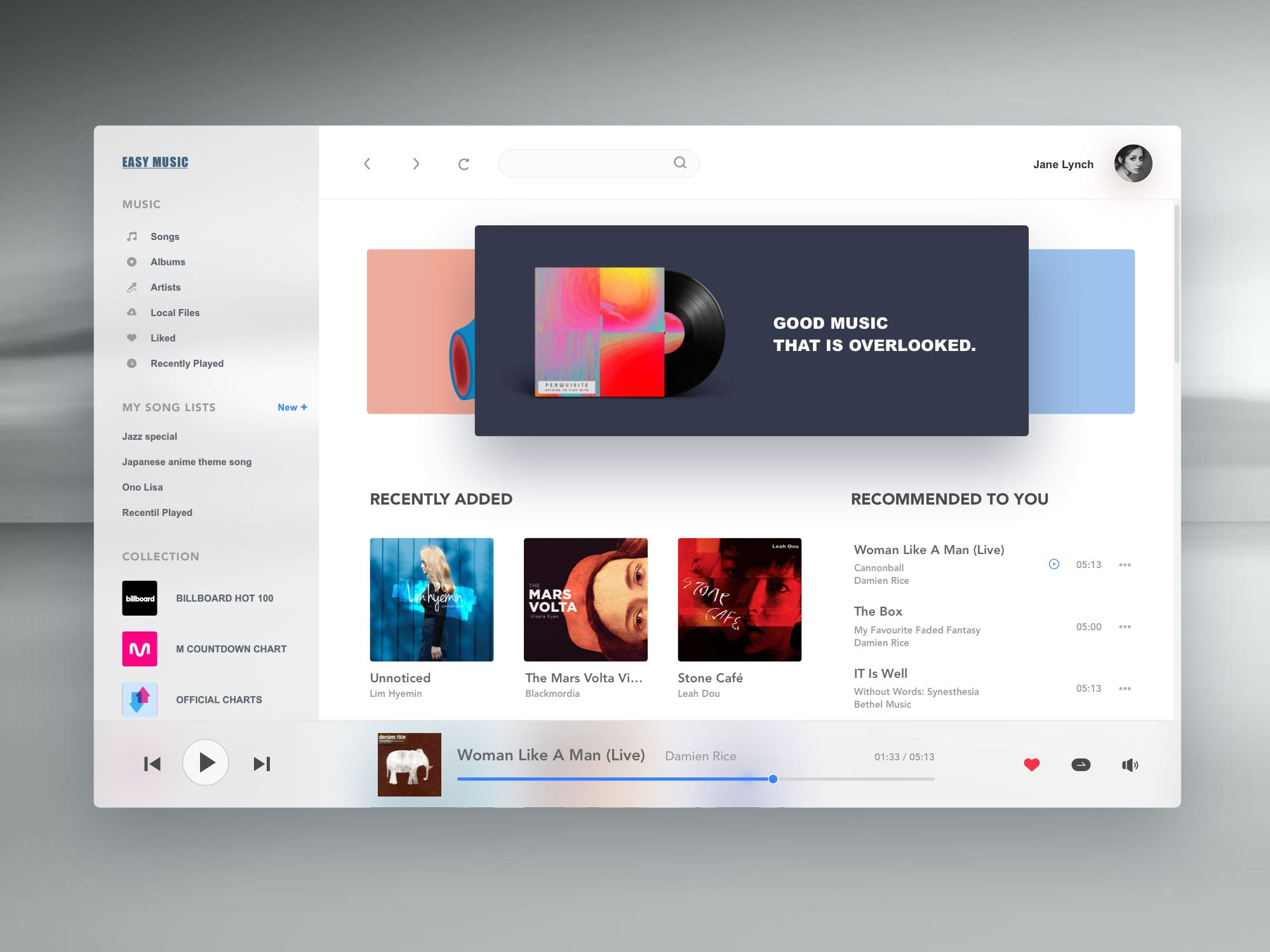 Music player | U I   E L E M E N T | Web ui design, Fluent