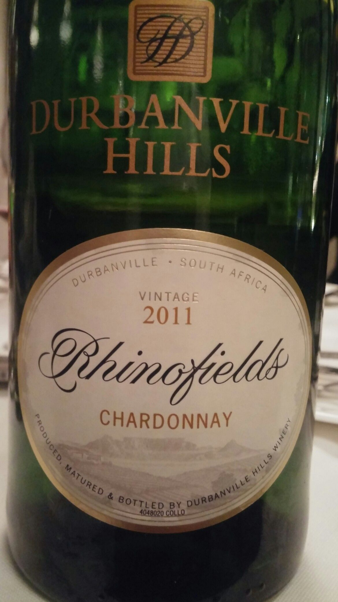 Durbanville Hills Rhinofields Chardonnay 2011 85 Points Sommelier Miguel Chan Full tasting notes: www.vivino.com/users/miguel-chan  #SouthAfrica #Wine #DurbanvilleHills #Rhinofields #Chardonnay #Durbanville #Sommelier #MiguelChan