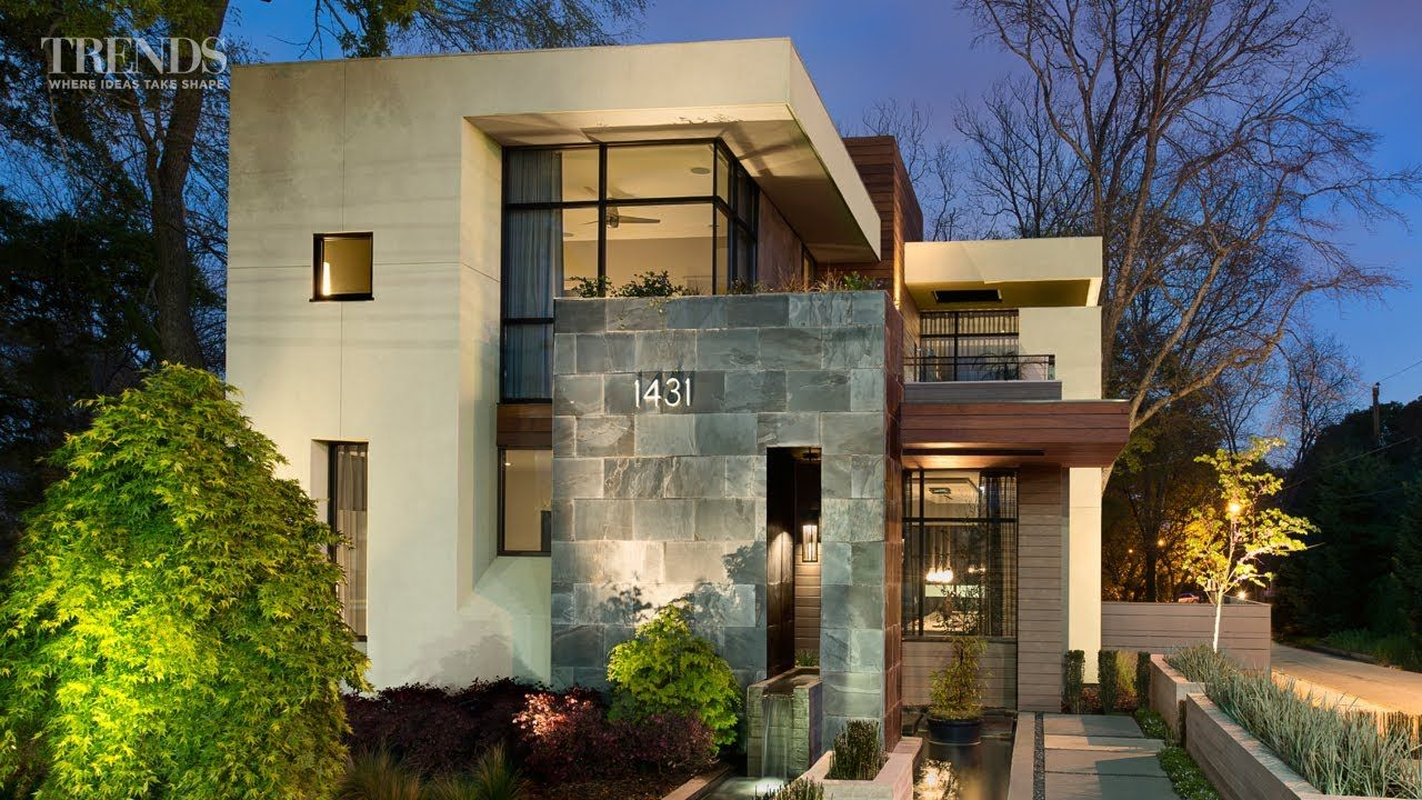 Contemporary suburban new home in atlanta on exposed - Modern home designs and floor plans ...