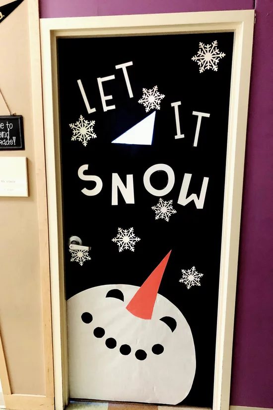 Rx 1906 Christmas Classroom Doors Let It Snow Let It Snow Let It Sno Door Decorations Classroom Christmas Christmas Classroom Door Christmas Door Decorations