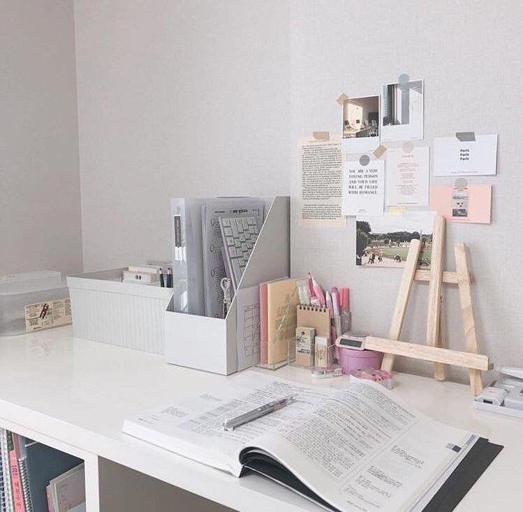 Miseuily Study Room Decor Study Desk Organization Study Table Designs