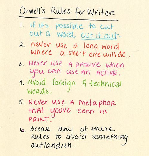 Pin By Cindy Smith On Writing  Writing Writing Tips Writer George Orwells Rules That A Writer Can Rely On When Instinct Fails Buy Course Work Online also Essay About Good Health  Help Writing Essay Paper