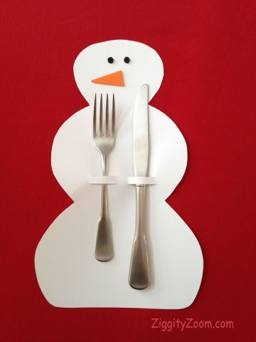 Snowman and Tree Holiday Table Settings | Snowman, Pdf and Holidays