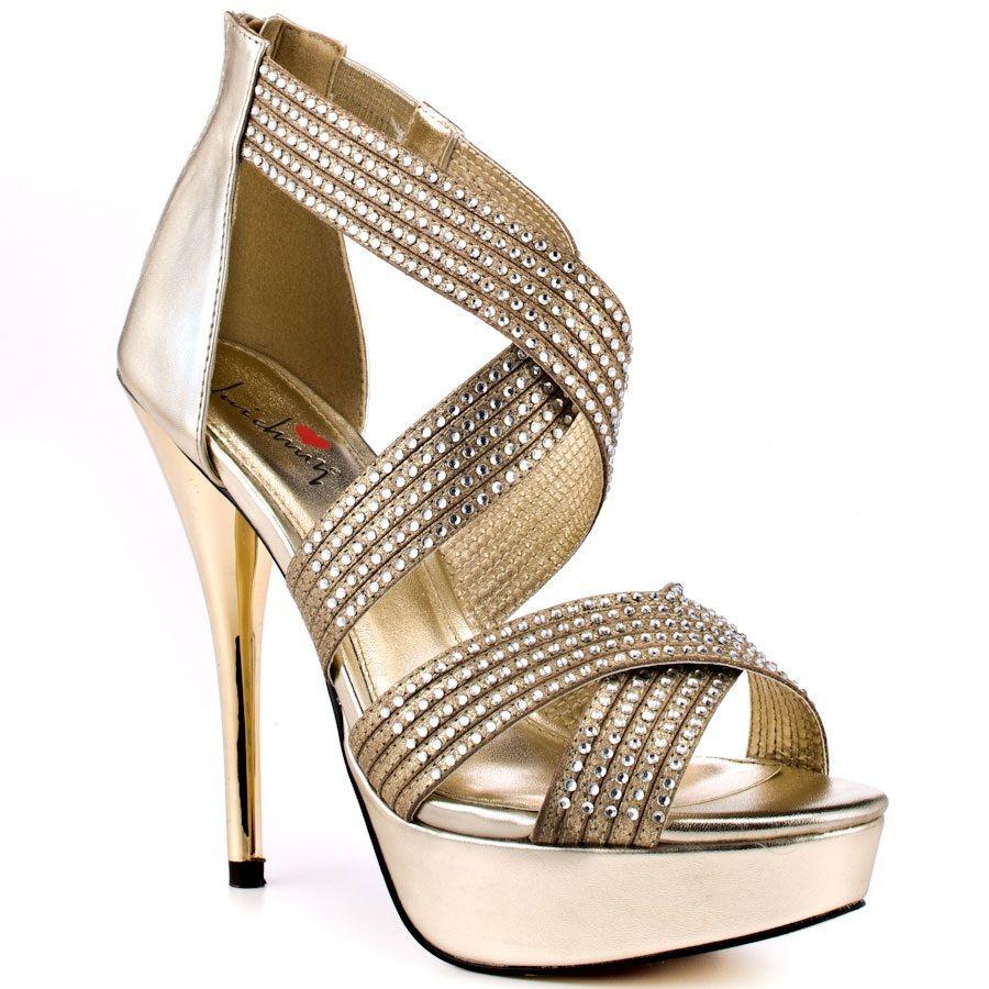 cfea4c09a4cbc High Heel Golden Sandals For Girls | Shoes | Shoes, Golden sandals ...