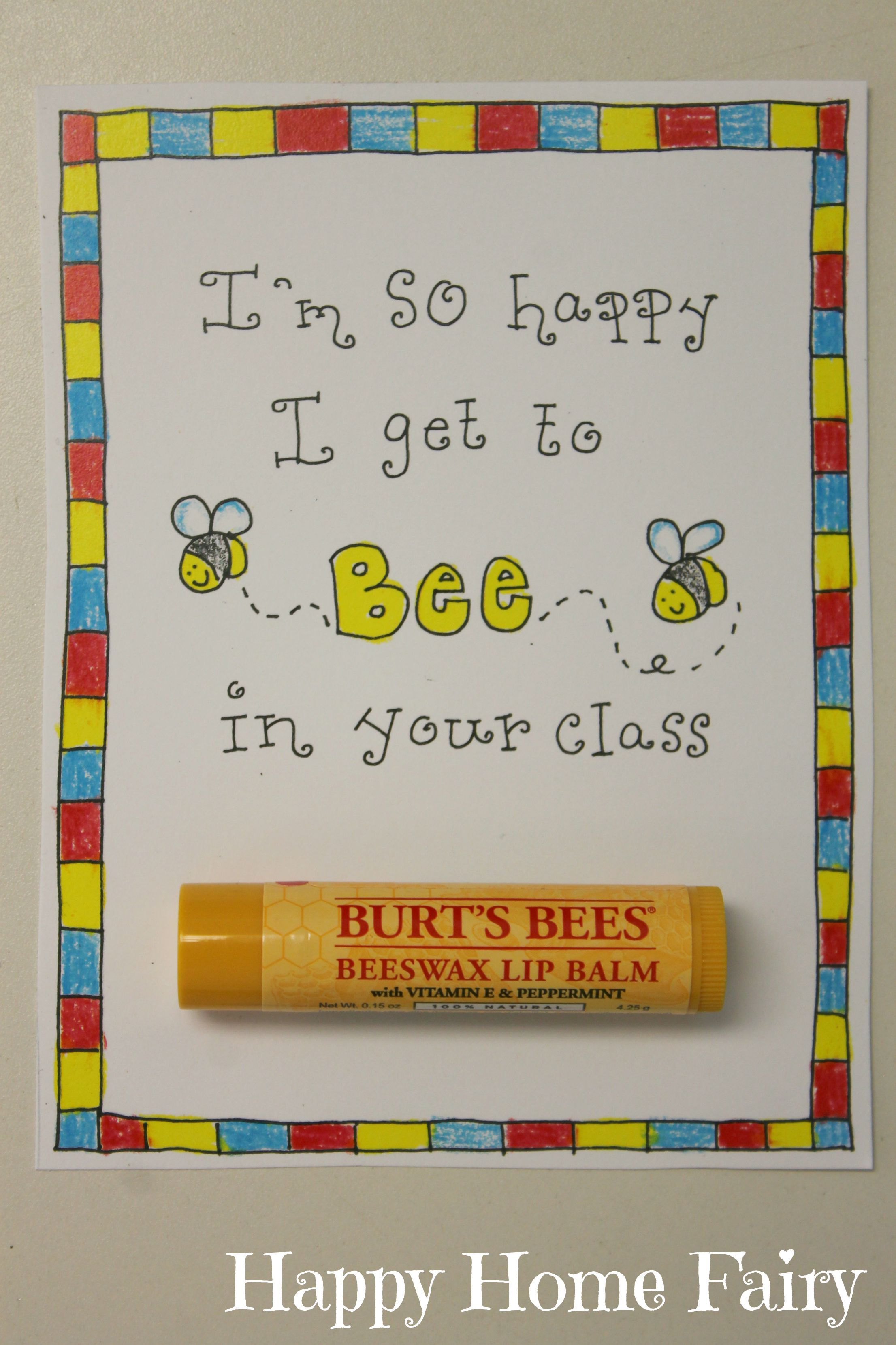 Thanks for beeing such a great teacher youre the balm gifts to back to school teacher gift free printable kristyandbryce Gallery