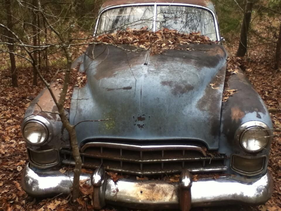 My grandpa\'s poor old 1948 Cadillac. Thieves stole some of the ...
