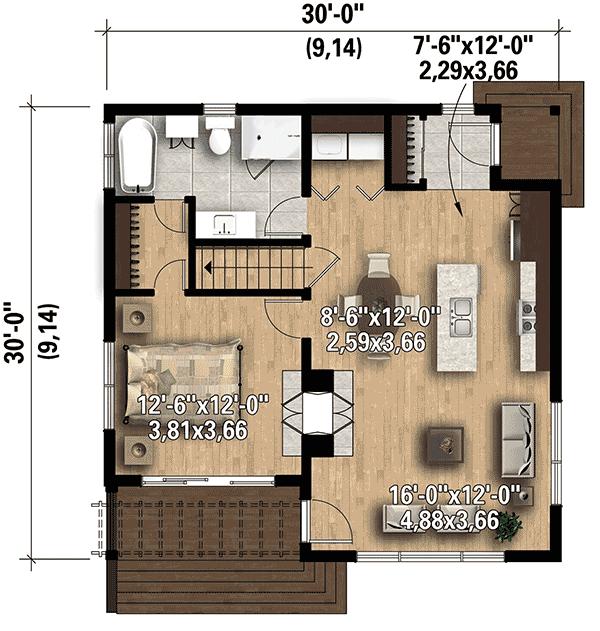 Contemporary Vacation Getaway Haus Pläne Haus Und Planer