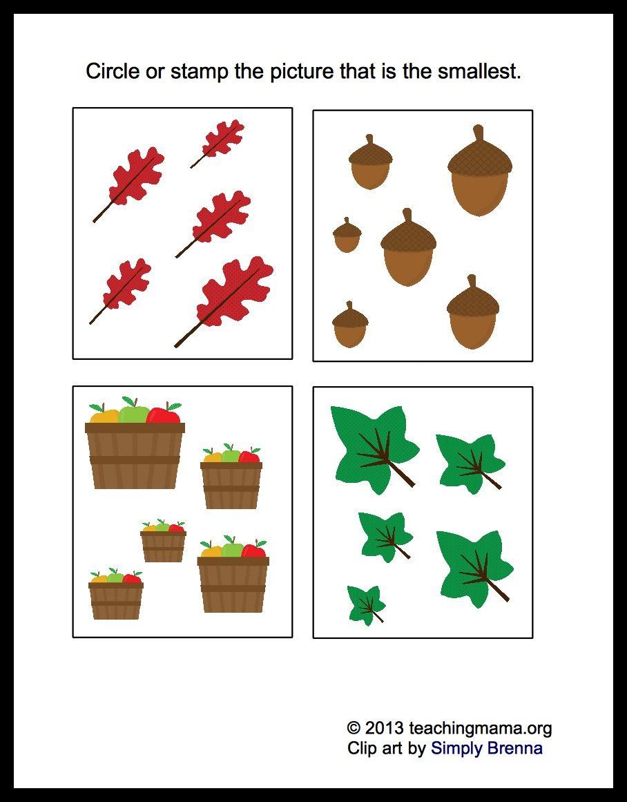 Fall Math Packet For Preschoolers Fall Preschool Worksheets Fall Math Fall Preschool Activities [ 1161 x 908 Pixel ]