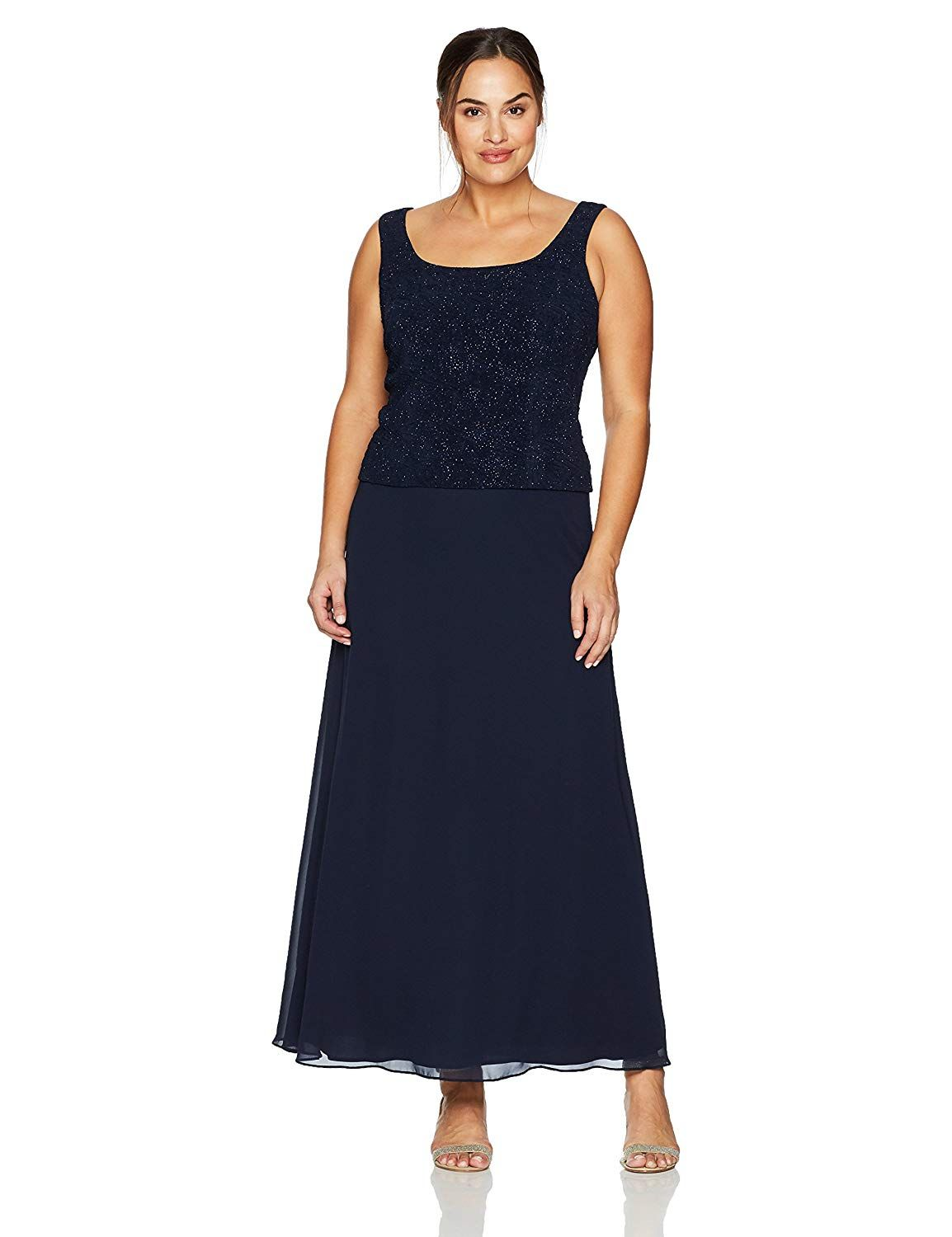 Alex Evenings Plus Size 425053 Eggplant Dress You Can Find Out