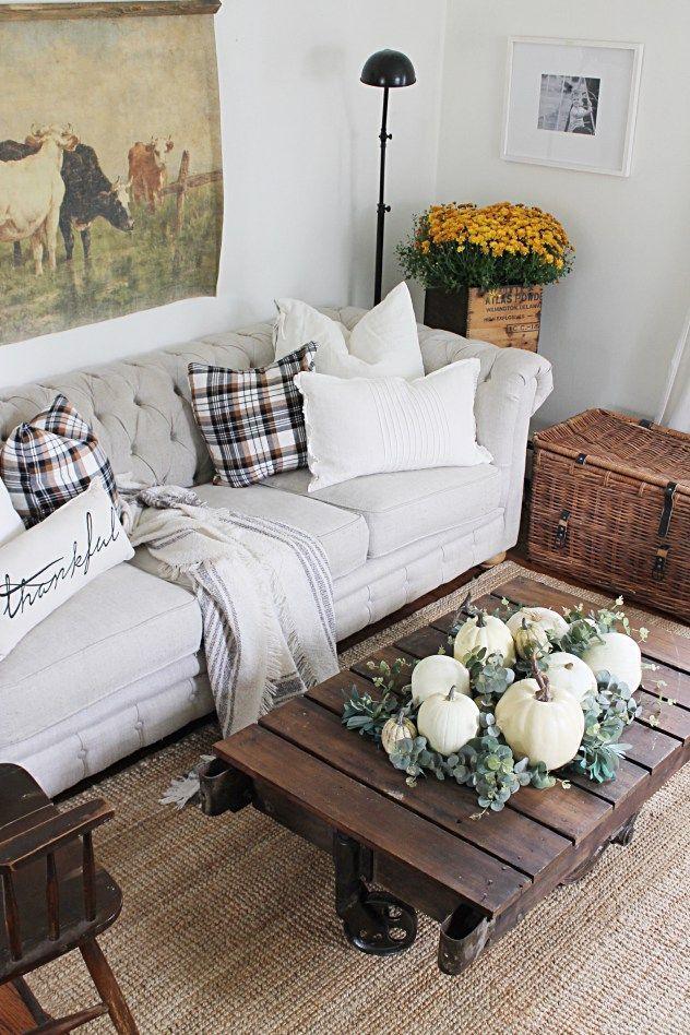 Romantisch trifft rustikal, Wohnzimmer einrichten im traditionellen