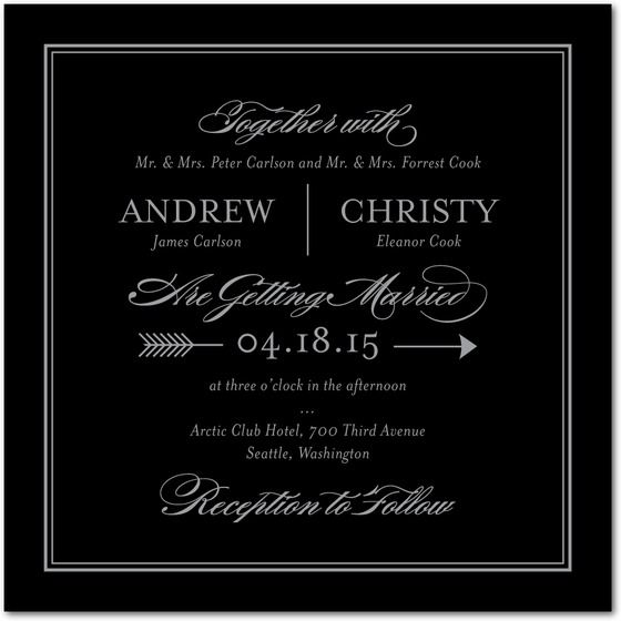 Modern and chic this elegant wedding invitation template features modern and chic this elegant wedding invitation template features foil stamping to add a touch stopboris Choice Image