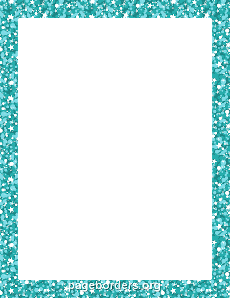 Printable blue glitter border. Use the border in Microsoft Word or other programs for creating flyers, invitations, and other printables. Free GIF, JPG, PDF, and PNG downloads at http://pageborders.org/download/blue-glitter-border/