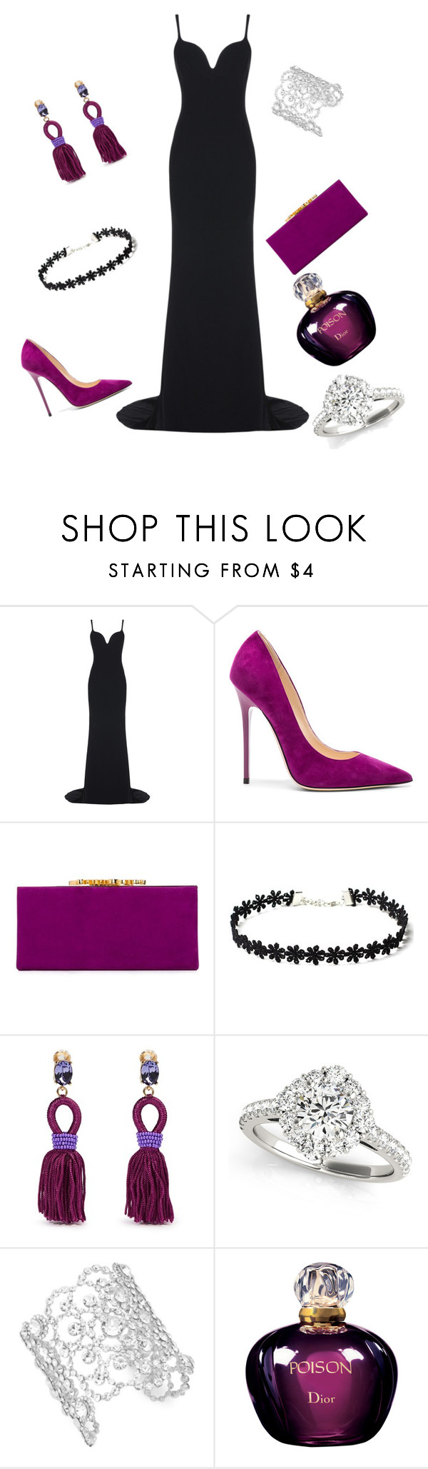 """""""Untitled #6"""" by zerina-2 ❤ liked on Polyvore featuring STELLA McCARTNEY, Jimmy Choo, Oscar de la Renta, Kate Spade and Christian Dior"""