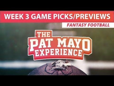 2017 Fantasy Football - Week 3 NFL Picks, Game Previews, Survivor