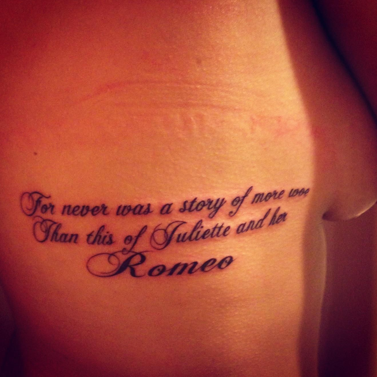 My Romeo and Juliet quote tattoo Shakespeare