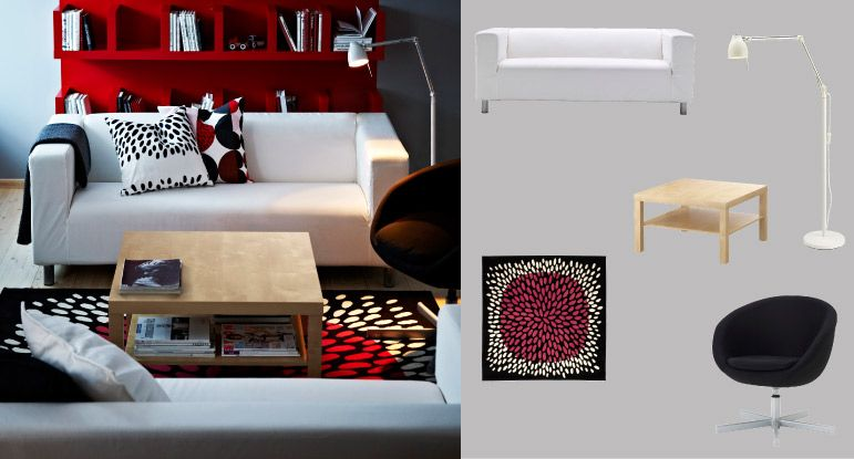 Us Furniture And Home Furnishings Living Room Red Coffee Table Inspiration Ikea Klippan Sofa