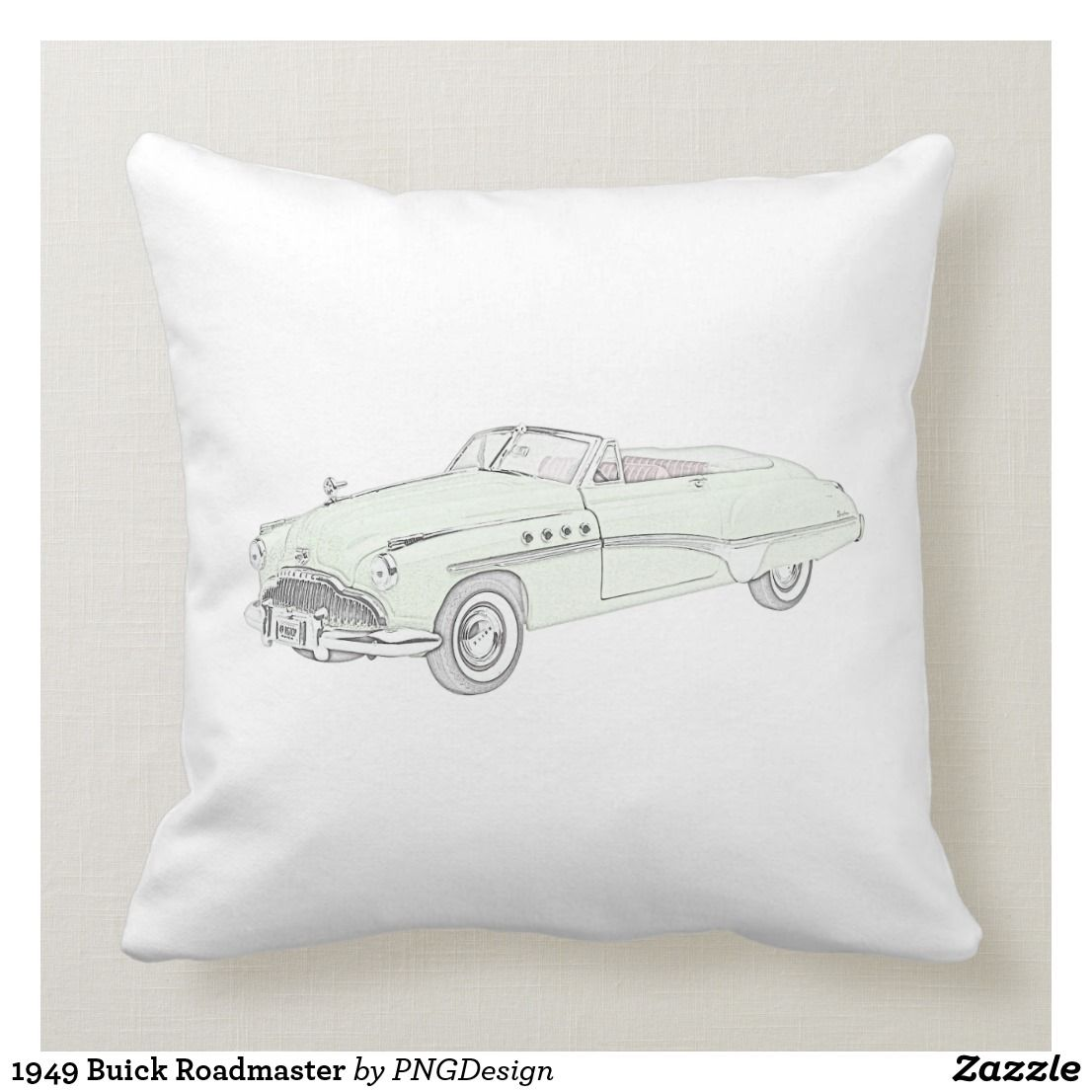1949 Buick Roadmaster Throw Pillow Pillows Throw Pillows