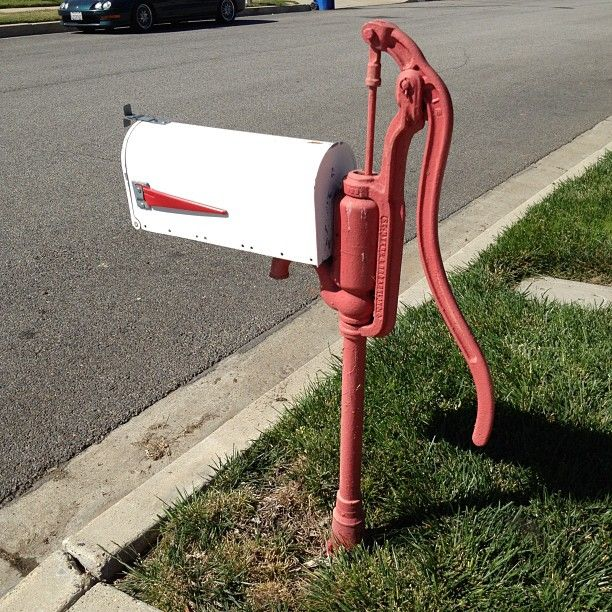 Water Pumps Reuse Ideas That Will Steal The Show Diy Mailbox Mailbox Design Cool Mailboxes