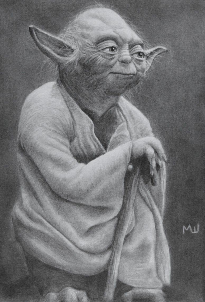 Pencil Drawing of Yoda   Zeichnungen