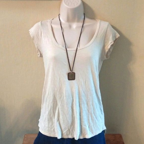 Lucky Brand hi-low top Longer in the back.  Super soft! Lucky Brand Tops