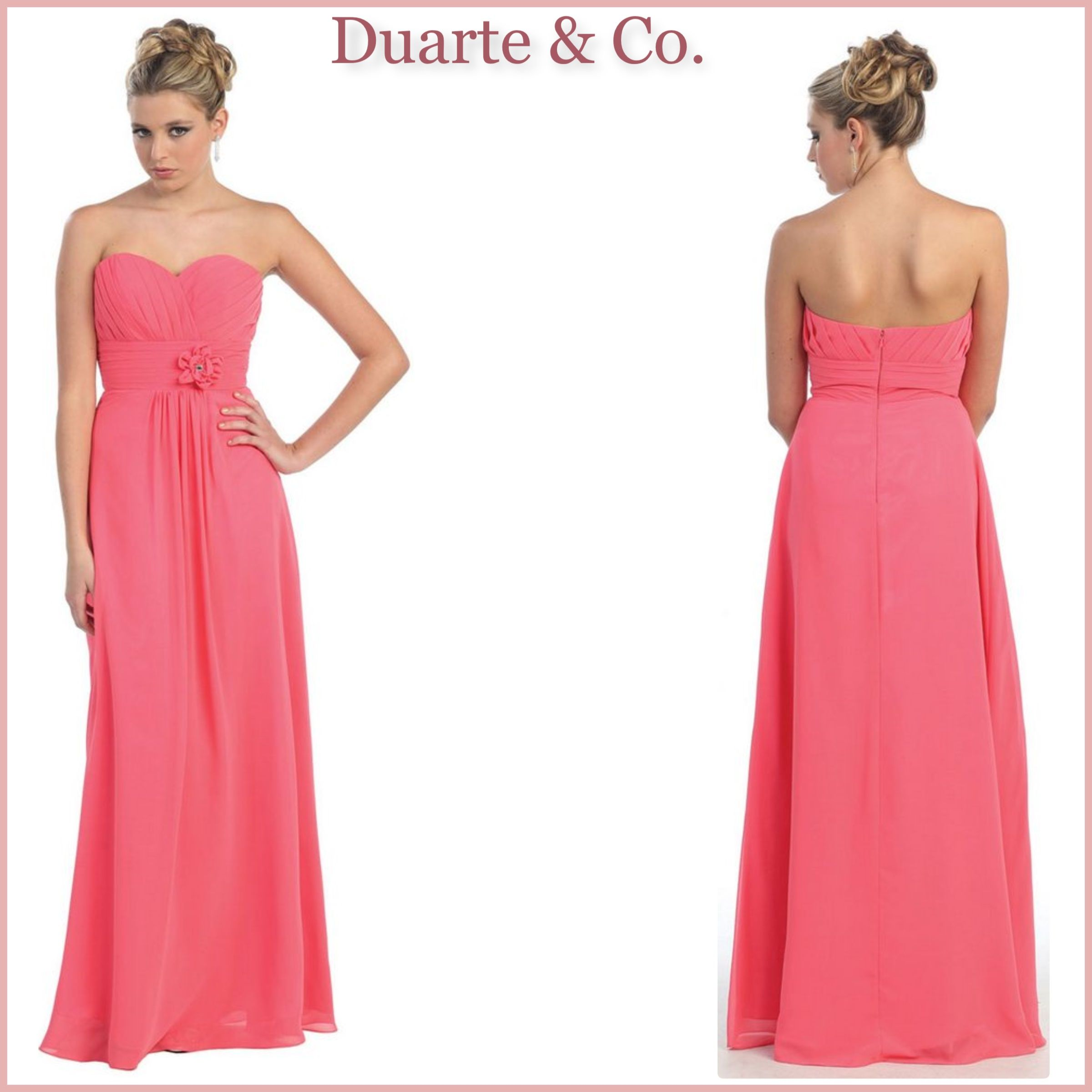 9db7fc5bb0 MQ875  88.00 Chiffon Strapless Bridesmaid Dress W Plus Sizes Comes in 15  colors and can be used for any special occasion. Available in plus sizes 4  to size ...
