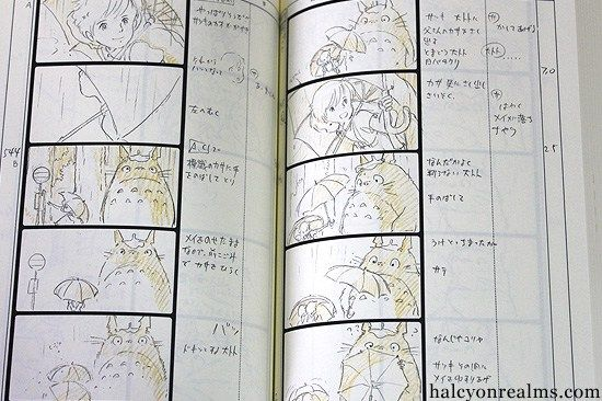 The Art Of Totoro  The Storyboard Book  Halcyon Realms  Art Book