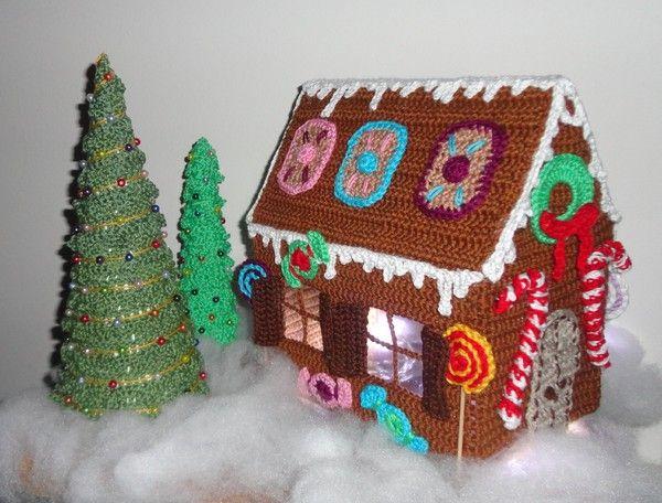 anleitung lebkuchenhaus mit 2x weihnachtsbaum. Black Bedroom Furniture Sets. Home Design Ideas
