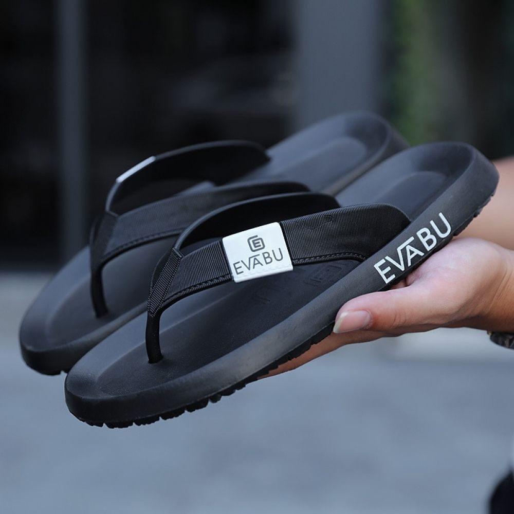 63a64898376d 2018 men slippers Men s Flip Flops Fashion Summer Beach Water Rubber shoes  outside Male Flats brand sandals black red green shoe Price  39.99   FREE  ...