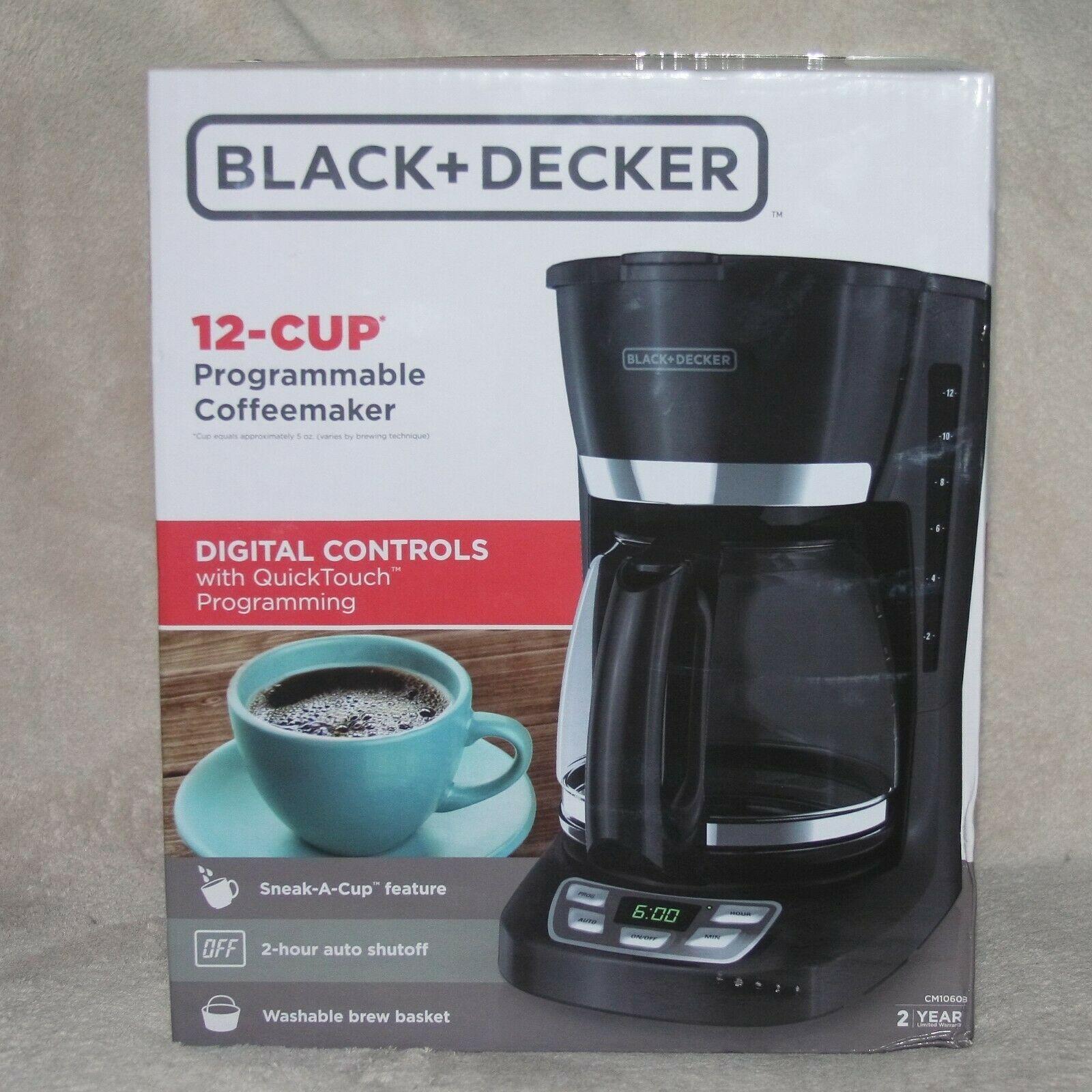 Black Decker 12 Cup Programmable Coffeemaker In 2020 Coffee Maker Bunn Coffee Maker Cuisinart Coffee Maker