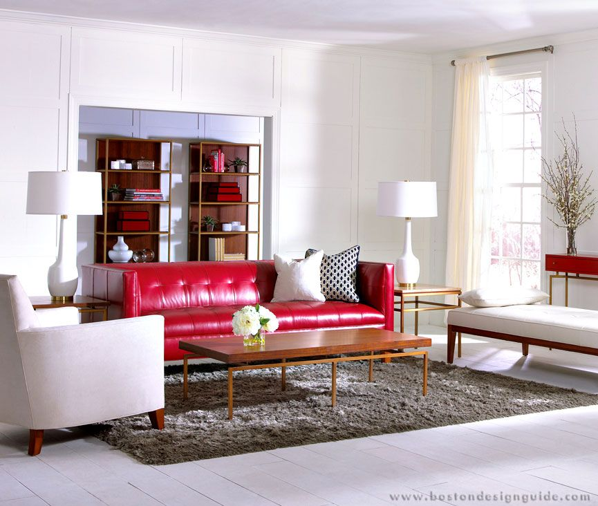 Seeing Red Transitional Style Living Room Transitional Living