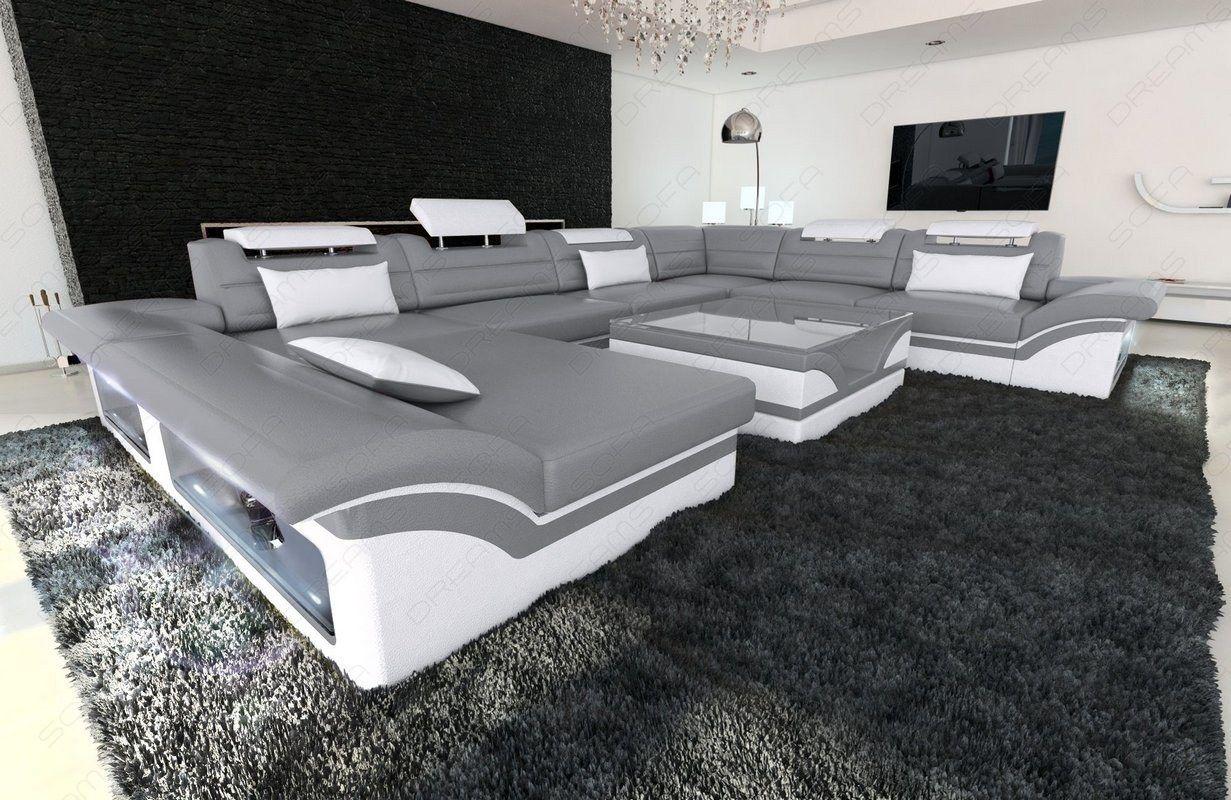 Xxl Wohnlandschaft Enzo Leder Wohnen Sofa Design Wohnzimmer Sofa