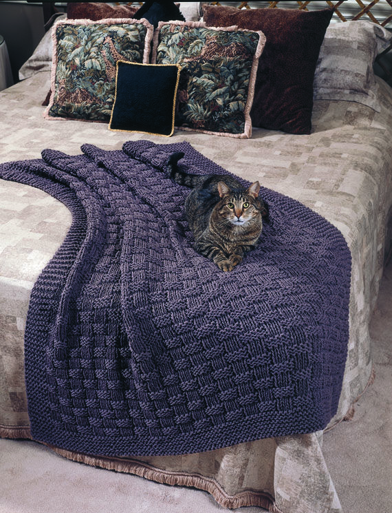 Free Knitting Patterns For Worsted Weight Yarn : Comfy Afghan:Finished Size: 47