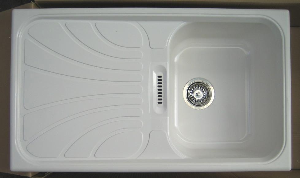 NEU* RIEBER Verona-100 Spüle Einbauspüle WEISS   BLAU   BEIGE - spüle für küche