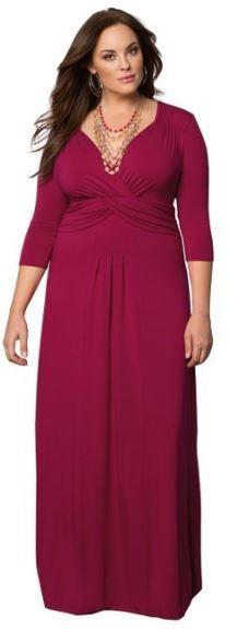 Maxi Jersey Dress With Empire Waist Pink Clothes Pinterest