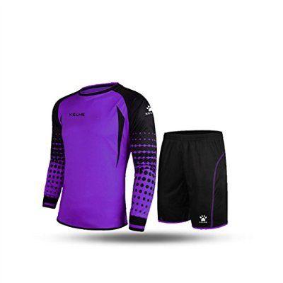 b93dc866cc4 KELME Football Goalkeeper Long-Sleeve Suit Soccer Jersey Set ...